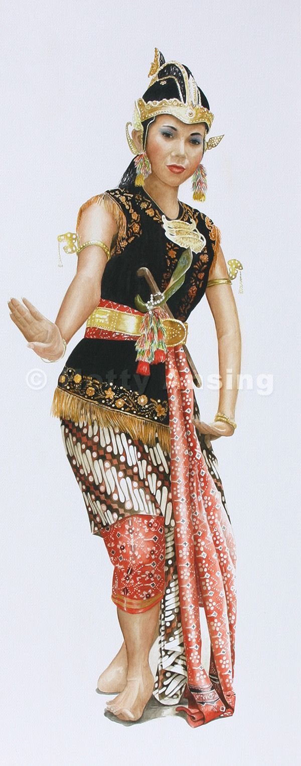 Court dancer of Java