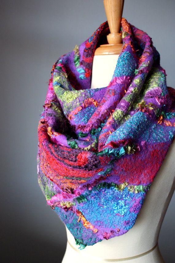 I'd wear it if the felt was humanely fabricated. Nuno Felt Scarves by Svitlana