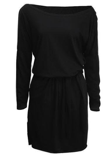 Open Back Long Sleeve Blouson Dress on sale only US$22.92 now, buy cheap Open Back Long Sleeve Blouson Dress at lulugal.com