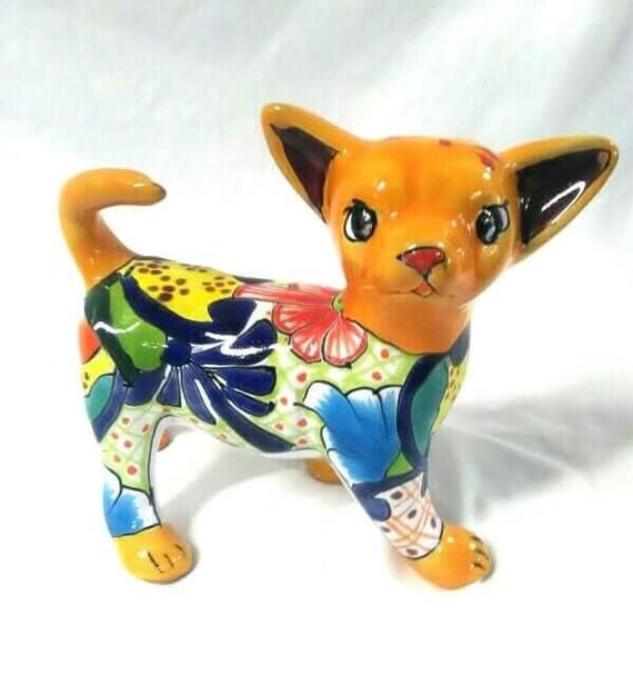 9 Mexican Talavera Chihuahua Dog Puppy Colors And Designs Vary Chihuahua Dogs Dogs Puppies Chihuahua