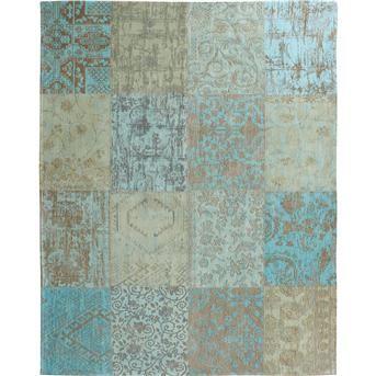 VLOERKLEED VINCENTIA 170X240CM met sfeervolle prints en patchwork optiek #kwantum #vloer #vloerkleed #patchwork #print #wonen #interieur