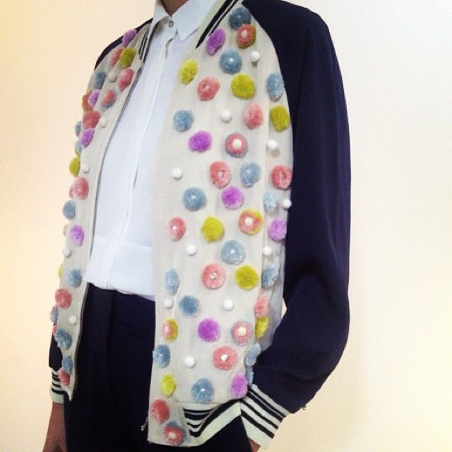 31.PhillipLim pom pom jacket