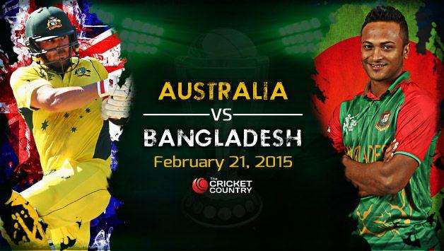 Australia vs Bangladesh, 11th Match Pool A - Live scorecard
