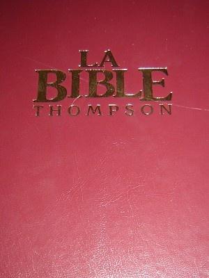 La Bible Thompson / Avec Chaine de references / Version Louis Segond revisee $135