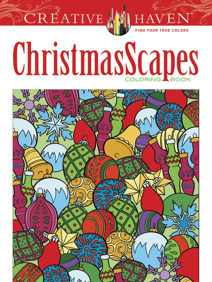 creative haven christmasscapes coloring book - True Colors Book