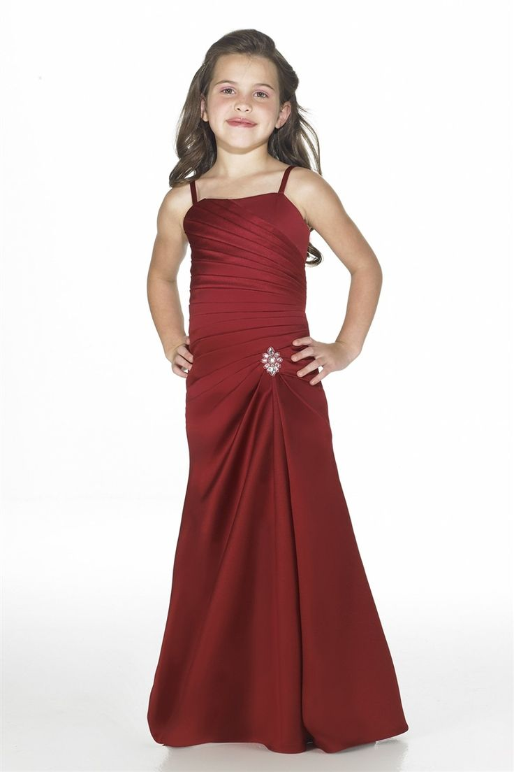 32 best junior bridesmaid dresses images on pinterest junior spaghetti straps floor length satin junior bridesmaid dress dressfame ombrellifo Image collections