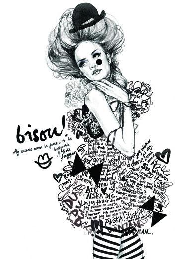 Fashion drawings and illustrations by Lina Ekstrand | Partfaliaz