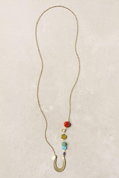 rainbow and horseshoe/pot of gold necklace