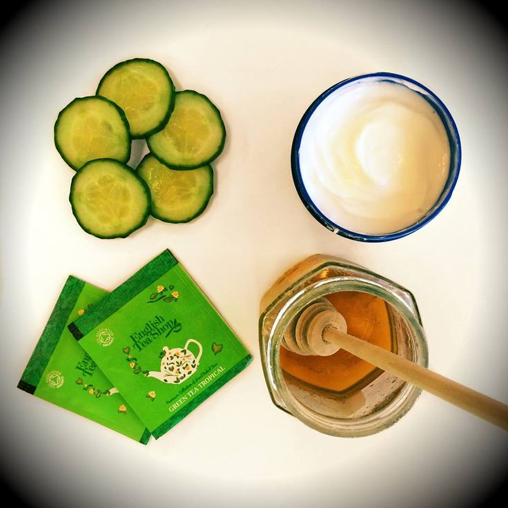 Detox Time! Skin feeling dry? We recommend a good face mask, cucumber and some of our Green Tea Tropical with Honey. Delicious!