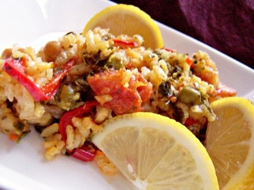Vegetáriánus paella - vegán