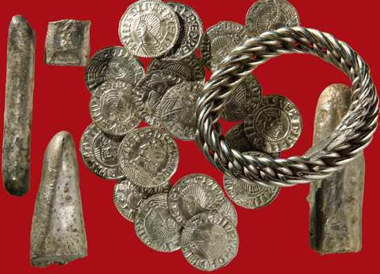 Viking coins and silver ingots deposited c.AD 1030