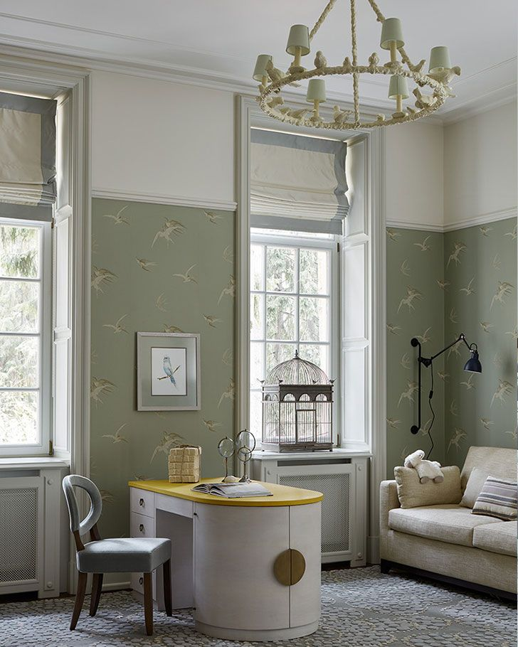 Kids room in neutral tones - Stunning family mansion in Moscow by Oleg Klodt (see more)