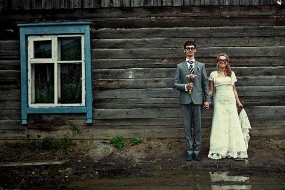 grappige huwelijksfoto