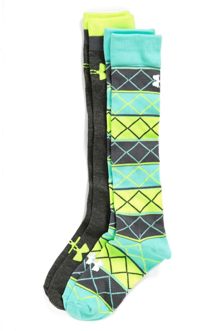 http://www.newtrendclothing.com/category/under-armour/ Under Armour Argyle Over the Calf Socks (2-Pack)