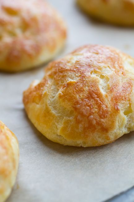 """Savory French Cheese Puff """"Gougeres"""" (recipe) - """"A savory appetizer that is bursting with butter and cheese, perfect for the holidays. These are great served immediately, but can be made ahead and frozen."""""""