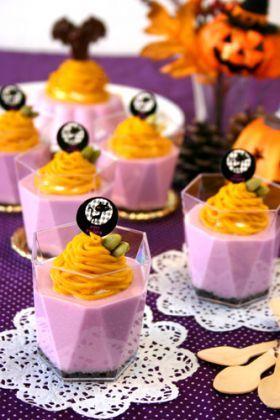 ハロウィンカラー☆レアチーズモンブラン