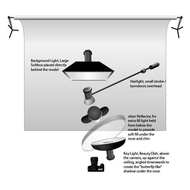 butterfly lighting setup   High Key or Low Key Butterfly Lighting ...