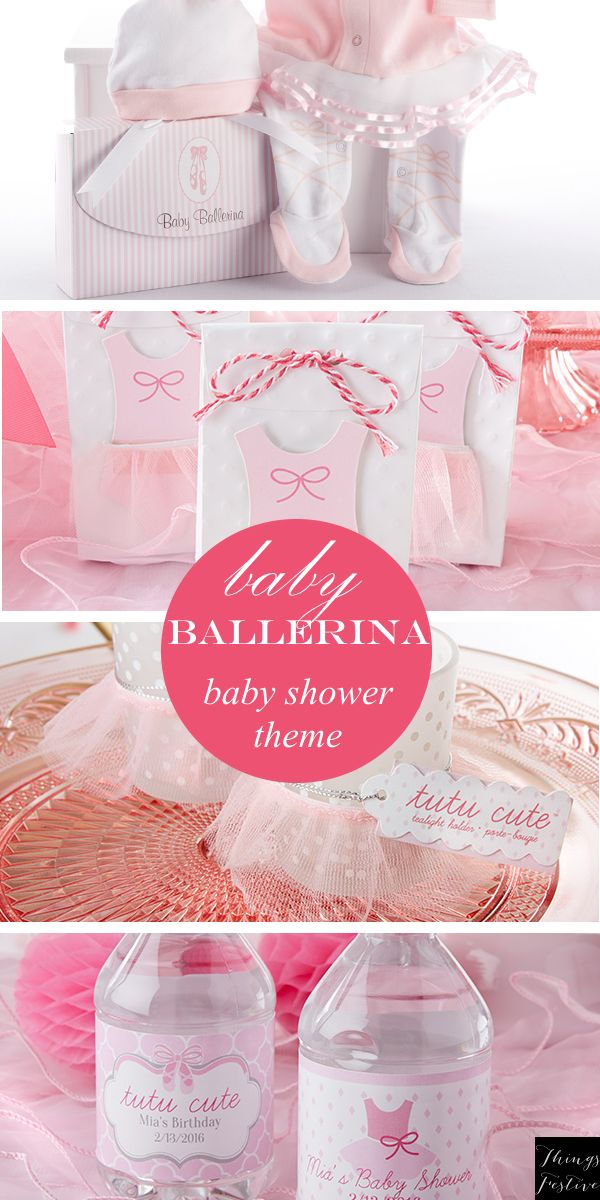 idea baby ballerina baby shower themes baby shower favors baby shower