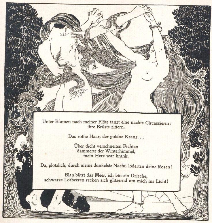 Alfred Roller, Ver Sacrum, 1898, No. 11, poem by Arno Holz