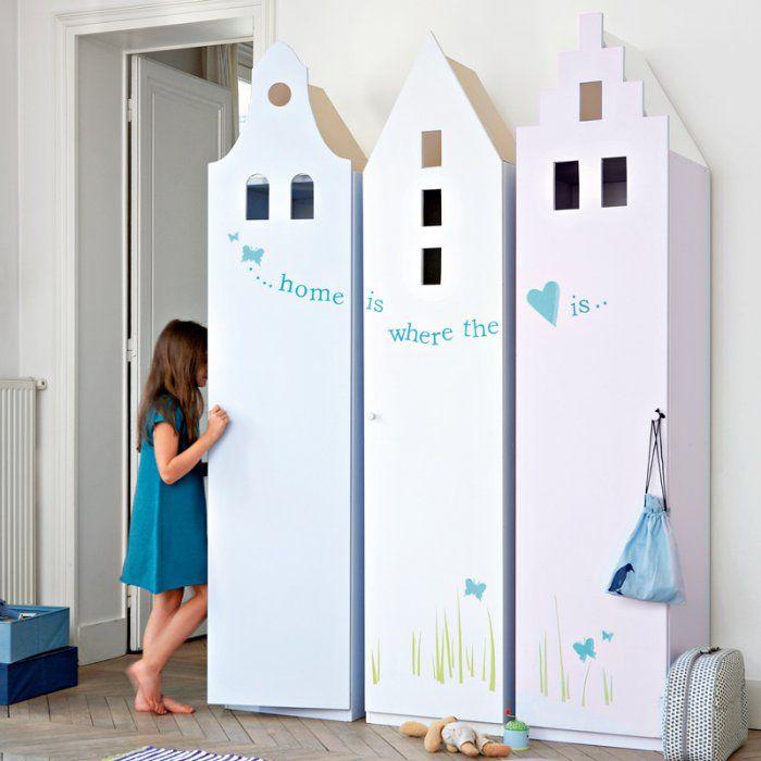 Des armoires pour enfant en forme de maison armoires forme de et pour enfants - Armoire pour enfants ...