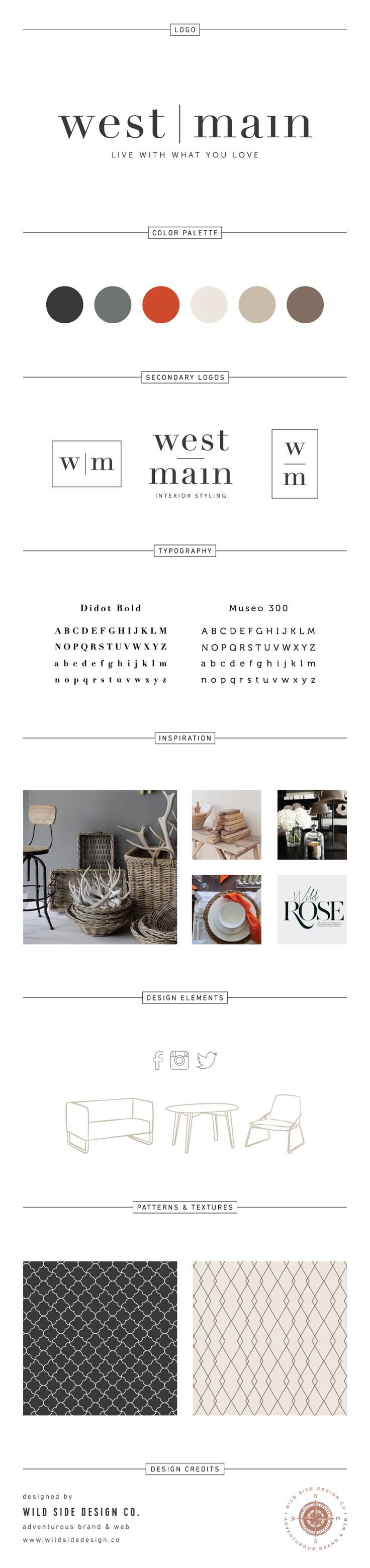 Brand Launch :: Brand Style Board :: Interior Stylist Branding :: West Main Brand Design :: #branding www.wildsidedesign.co