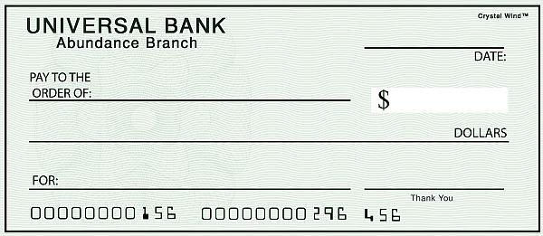 New Moon Abundance Cheques