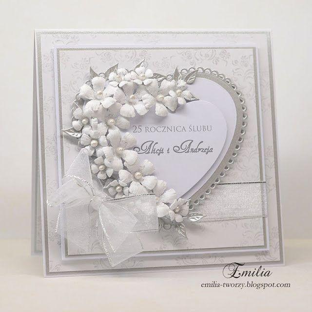 Emilia-tworzy (@emilia_tworzy) | Kartka na 25 rocznicę ślubu - srebrne gody…