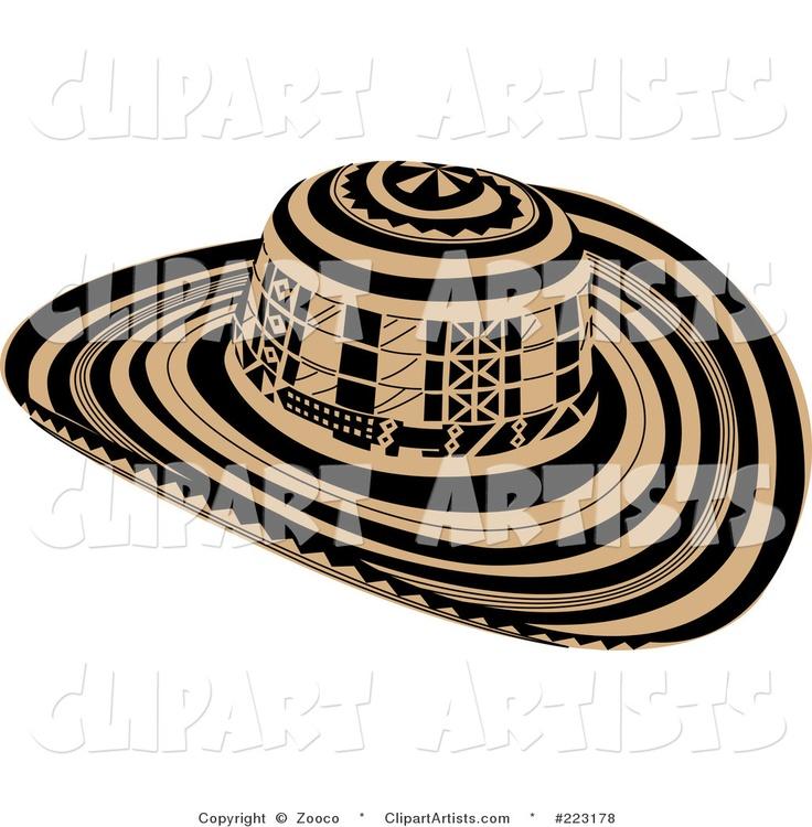 Vector #223178 - Black and Beige Sombrero Vueltiao Hat