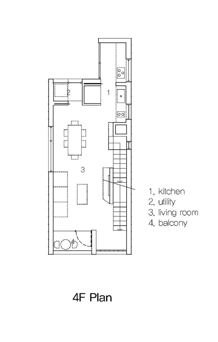 Image 18 of 35 from gallery of [5x17]Daecheong-dong Small House / JMY architects. Fourth Floor Plan