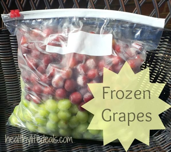 Frozen Grapes are Healthy Summer Snacks