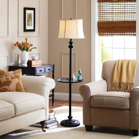 better homes and gardens black floor lamp with tray walmartcom