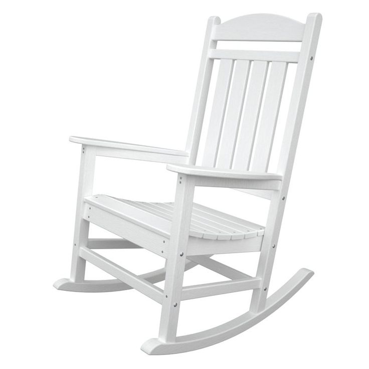 Outdoor POLYWOOD® Presidential Recycled Plastic Rocking Chair White    R100WH