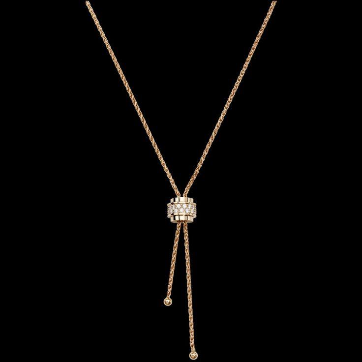 핑크 골드 다이아몬드 펜던트 - 피아제 주얼리 G33P0076