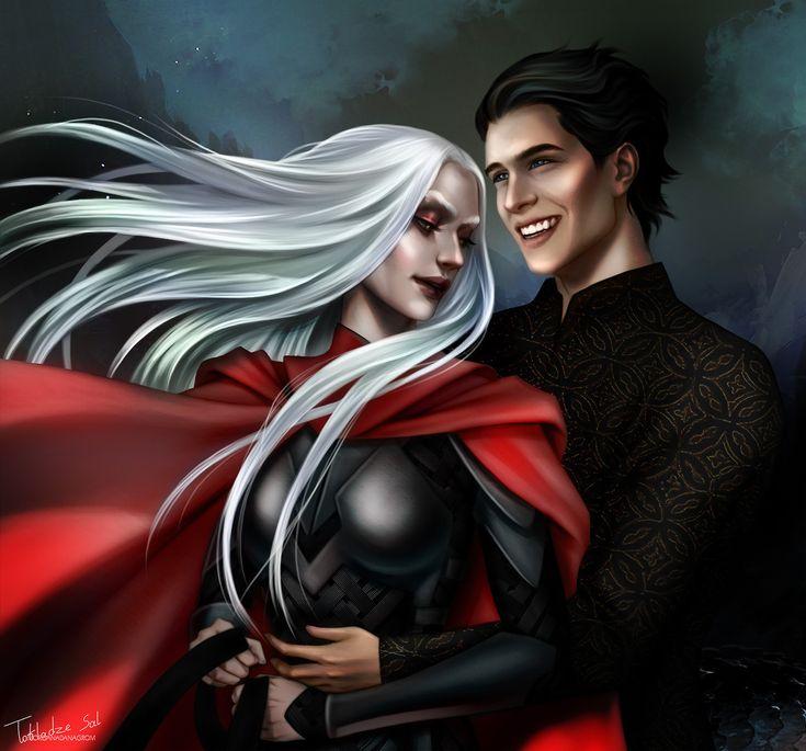 Manon Blackbeak and Dorian Havillard by morgana0anagrom. Empire of Storms. Sarah J Maas