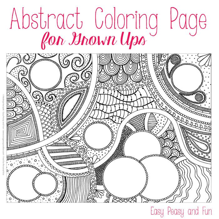 Abstract Circle Coloring Pages : Free abstract coloring page for adults circles