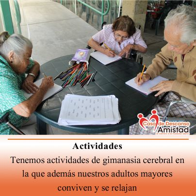 En Casa de Descanso Amistad, contamos con actividades para mejorar la salud emocional de nuestros adultos mayores.