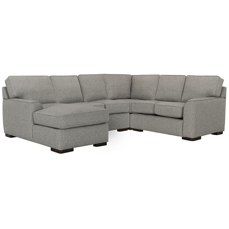 Austin Gray Fabric Medium Left Chaise Sectional