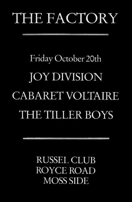 Fac3 – Joy Division, Cabaret Voltaire, The Tiller Boys