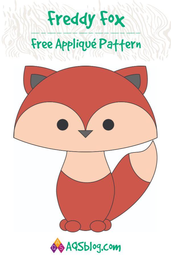 FREE PATTERN: Freddy Fox | Quilt | Free applique patterns