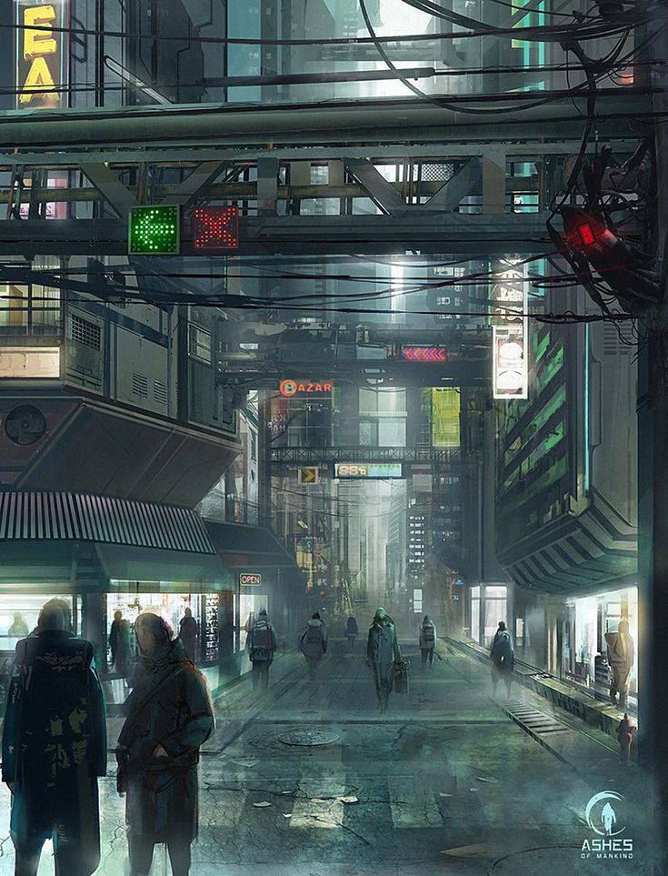ArtStation - Cyberpunk City, Reza Afshar