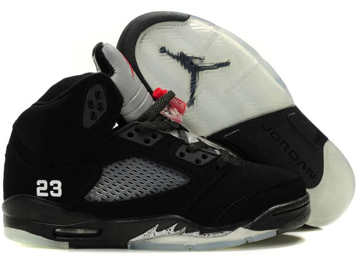 Latest Listing Cheap Women Air Jordans 5 Retro Black/Varsity Red-Metallic  Silver Your Best Choice