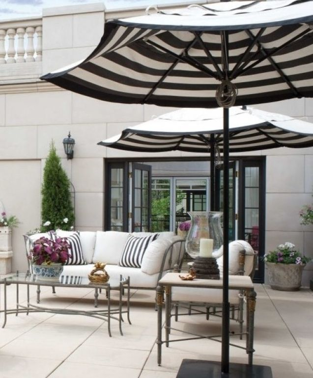 Best Outdoor Patio Umbrellas A Twist On The Expected The Well Black And  White Striped Patio