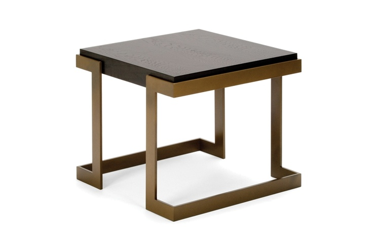 Angulus side table with a Smoked Oak top. Available in all standard paint finishes