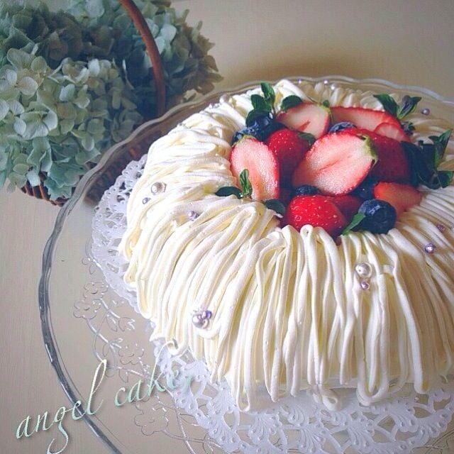 これからお友達が来るので, エンゼルケーキ作りました♪ - 324件のもぐもぐ - エンゼルケーキ。 by nanon