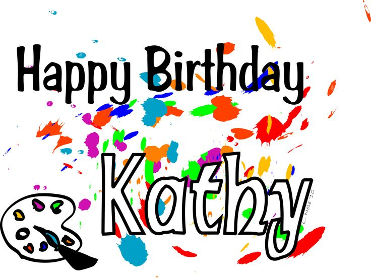 Happy Birthday Cake To Kathy