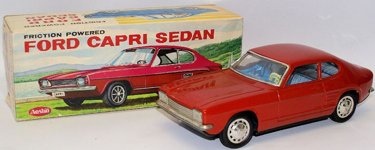 RARE Vintage 1960's Tin Friction Powered Red Ford Capri Sedan by Aoshin, Japan | eBay