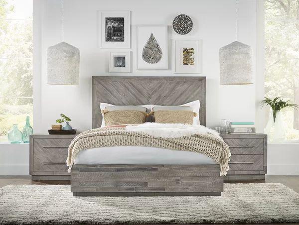 Platform Solid Wood Configurable Bedroom Set Bedroom Interior Bedroom Furniture Sets Wood Bedroom Sets Bedroom set grey wood