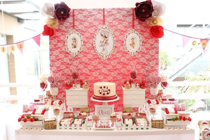 Pretty girly birthday party! See more party ideas at CatchMyParty.com!