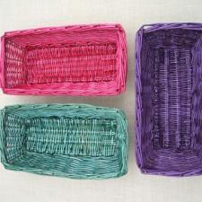 Rit dye wicker baskets: Dyes Wicker, Crafts Ideas, Dyes Baskets, Baskets Th Stash, Wicker Baskets Th, Rit Dyes, Crafts Ii, Diy Dyes, Dyed Wicker