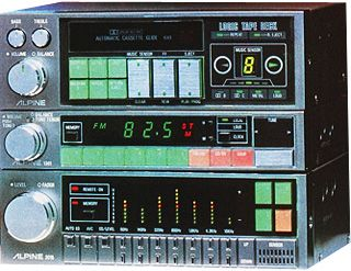 """The LS-5 series computer-controlled car audio component won the """"Good Design award"""". 1982"""